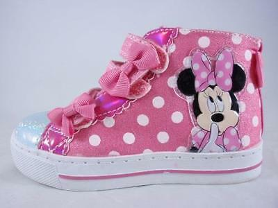 aa81e88defe GIRL S TODDLER DISNEY MINNIE MOUSE Pink Light Up HI Top Sneakers Shoes NEW  -  16.00