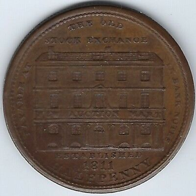 GREAT BRITAIN London Thomas Wood 1811 Halfpenny Token Withers 845 Inv 3585