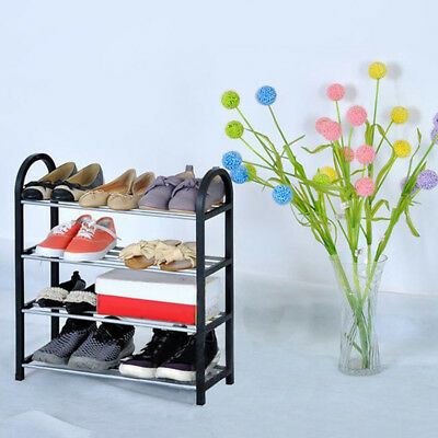 3 4 Tiers Space Saving Organizer Storage Standing Shoe Hold Tower Rack Shelves