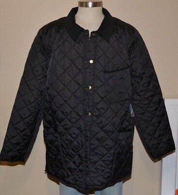 JCP Black Quilted Light Weight Fall Winter Jacket Coat Men's XXL 2XL NWT
