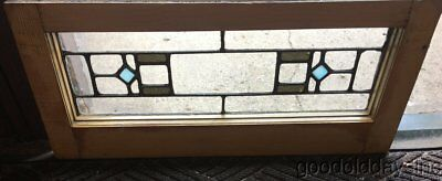 "Antique Stained Glass Transom Window 27"" by 12"" Circa 1920"