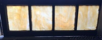 "Antique Stained Glass Transom Window 40"" by 14"" Circa 1925"