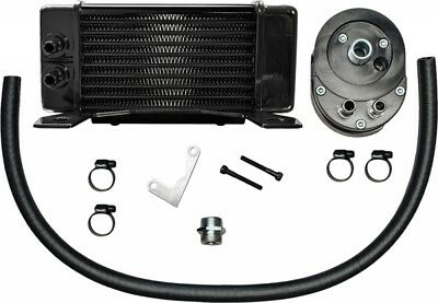 Jagg Lowmount 10-Row Oil Cooler System (Black) (750-2300)
