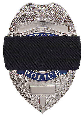 Black Elastic Police Officer Law Enforcement Badge Mourning Tape Rothco 1005