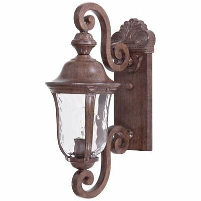 "The Great Outdoors 8990-61 1-Light 19.75"" Height Outdoor Sconce in Vintage Rust,"