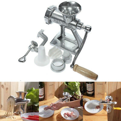 Manual Meat Grinder Mincer Pasta Maker Hand Operated Crank Tool for Kitchen US