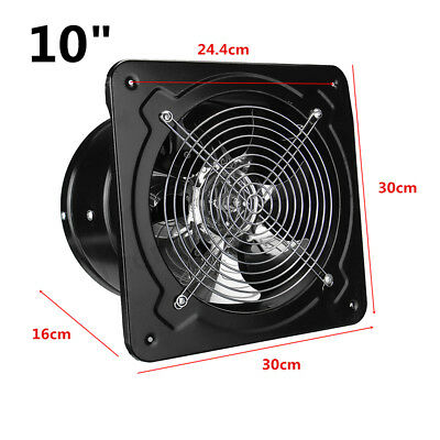 10 Inch Commercial Axial Metal Industrial Ventilation Extractor Plate Fan