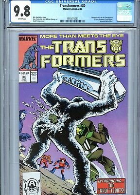 Transformers #30 CGC 9.8 White Pages 1st Throttlebots Marvel Comics 1987