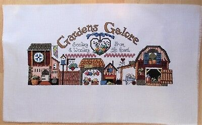 Country Sampler Gardens Galore - Completed Counted Cross Stitch Handmade