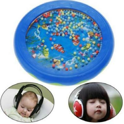 Ocean Wave Sound Sensory Calming Bead Drum Toy for Baby Toddler Gift LC