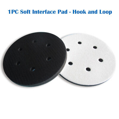 6'' 6-Hole Soft Interface Pad Hook & Loop Soft Foam Disc Protecting Sanding Disc