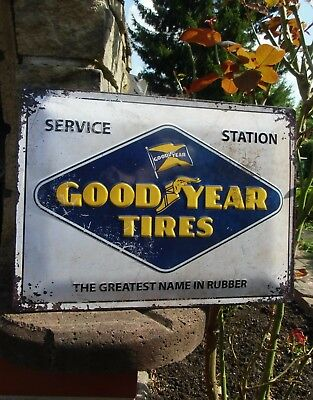 Licensed GOODYEAR Tires SERVICE STATION - LARGE Metal WALL SIGN