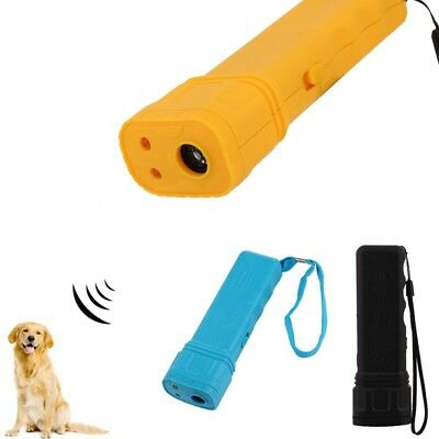 3 in1 Ultrasonic Anti Stop Barking Pet Dog Train Repeller Control Trainer Device