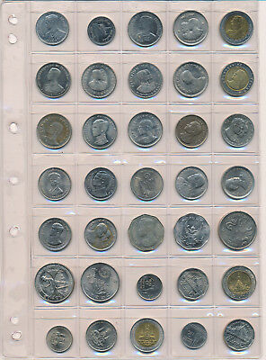 Thailand 35 UNC / BU Coins - Commemorative & Circulating Most With Strong Lustre