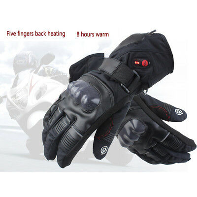 Motorcycle Rechargeable Battery Winter Electric Heated Gloves Hand Warmer M/XL