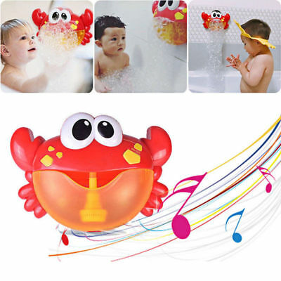 Crab Bubble Maker Automated Spout Bubble Machine Bath Shower Kids Fun Toy Cute