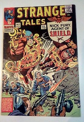 Strange Tales 142 Dated March 1966. Very Good Condition.