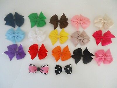 """Lot of 17 toddler hair bows ~ approx. 3"""""""