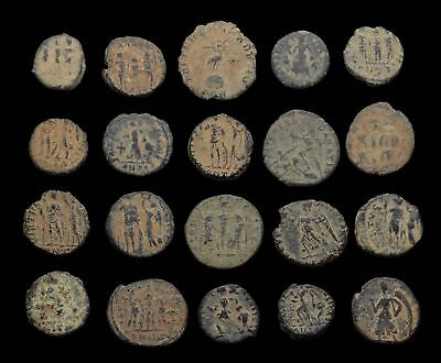 Lot of 20 nice quality uncleaned Roman coins, sand patinas