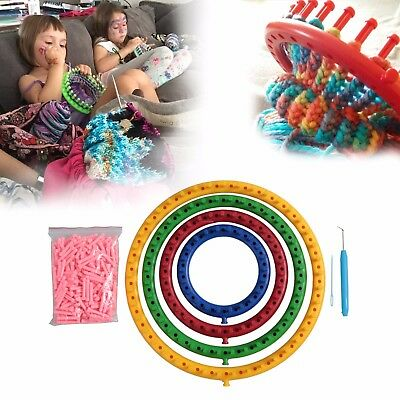 14, 19, 24, 29cm Round Circle Knitting Knit New Version Loom Kit With Extra Pin