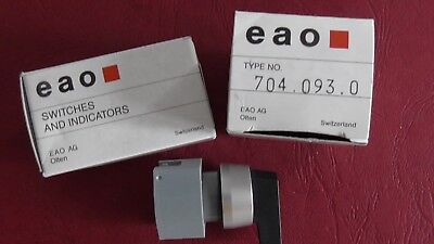 3 x EAO  Wahlschalter-Vorsatz 704.093.0  SWITCH and INDICATOR , SHALTER