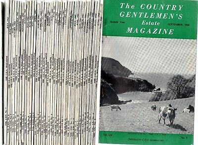 Job lot vintage magazines (1960s) country estates polo forestry farming history