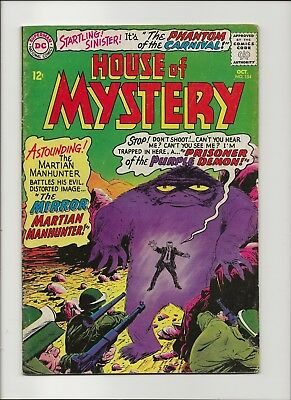 "House of Mystery 154 VG+ 4.5 Martian Manhunter Jonn' Jonz"" John Jones 1965"