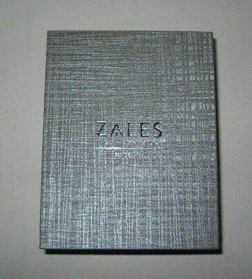 New Zales the Diamond Store Silver Jewelry Gift Box for Necklace and Earrings