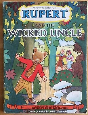 RUPERT Adventure Series Number 8 Rupert & The WICKED UNCLE FEBRUARY 1951 VG