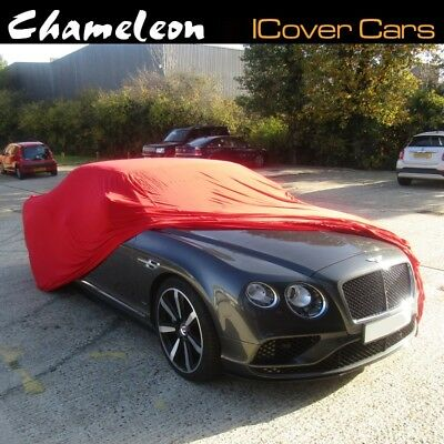 Premium 160gsm Indoor Car Cover Red Super Soft breathable fabric Large