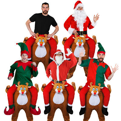 Reindeer Costume Pick Me Up Ride On Piggy Back Father Christmas Fancy Dress Xmas
