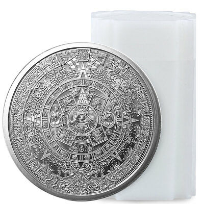 Roll of 20 - Golden State Mint Aztec Calendar 1 oz Silver Round GEM BU SKU55736