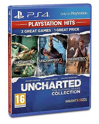 Uncharted The Nathan Drake Collection PlayStation Hits Game PS4 - NEW & SEALED