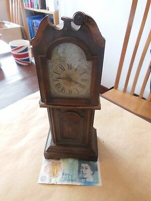 Miniature Oak Grandfather Clock