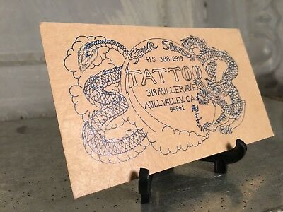 Vintage Tattoo Artist Business Calling Card Steve Stone's Mill valley CA Flash