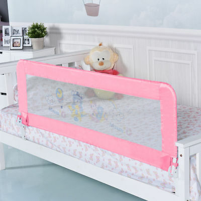 "Universal 59"" Baby Infant Breathable Toddler Bed Rail Safety Guard Swing Down"