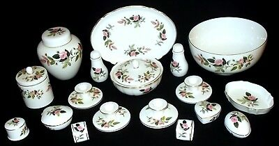 Wedgwood HATHAWAY ROSE 20 Assorted Pieces - JOB LOT.
