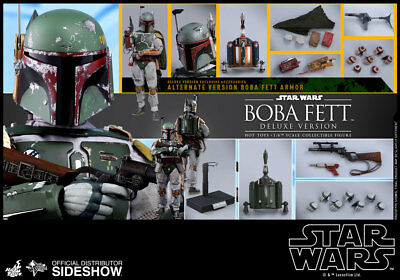 Hot Toys MMS Star Wars Boba Fett Deluxe Episode 5 Empire Strikes Back 1/6 Scale