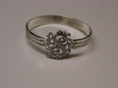 Napkin Ring with a ( Initial ( S ) Sterling Silver