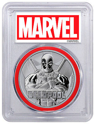 2018 Tuvalu Deadpool 1 oz Silver Marvel Series $1 PCGS MS70 FS Marvel SKU55692