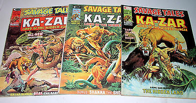 SAVAGE TALES #6 #8 and #9   KA-ZAR LORD OF THE JUNGLE 1975 Free Shipping