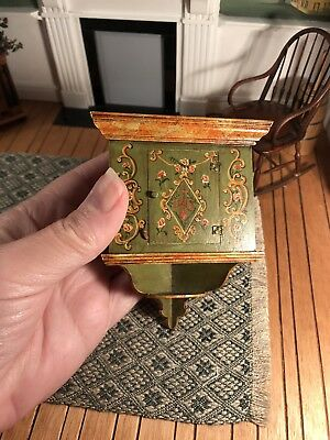 Dollhouse Miniature Artisan Signed Ruth Pollock Corner Shelf (A)
