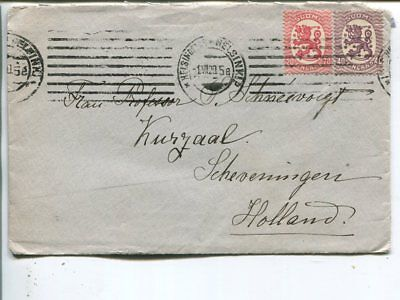 Finland 40+20p on cover to Netherlands 1.7.1920