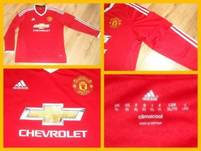 870b43f0a8f Manchester United Long Sleeve Home Shirt Jersey Adidas 2015-2016 Adult Size  XL