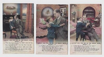 WW1 Song Card, What Did You Do In The War Daddy