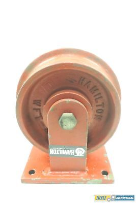 Hamilton WFT-82 Iron Caster Flanged Track Wheel 8 In Od