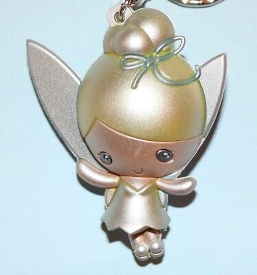 TINKER BELL SILVER 3D Figural Keychain DISNEY PETER PAN Series 13 Exclusive B!