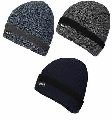 Mens Pro Climate Fishermans Knit Beanie Hat 5851 with Genuine Thinsulate  Lining 57366e06d483