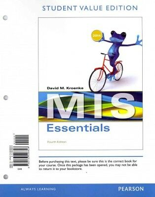 essentials of mis student value edition (13th edition)