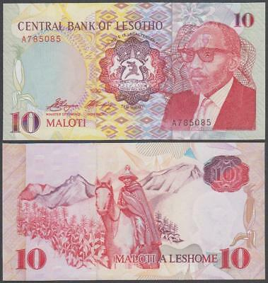 1990 Central Bank of Lesotho 10 Maloti (Unc)